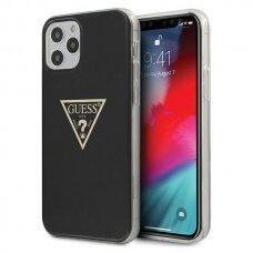 """ORIGINALUS GUESS DĖKLAS GUHCP12MPCUMPTBK iPhone 12 6,1"""" Max/Pro juodas Metallic CollectionGuess / GUE000838"""
