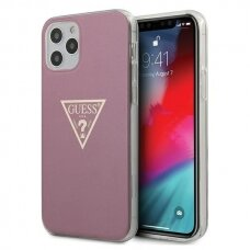 "ORIGINALUS GUESS DĖKLAS GUHCP12MPCUMPTPI iPhone 12 6,1"" Max/Pro rožinis Metallic CollectionGuess / GUE000841"