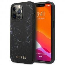 """Originalus Guess dėklas GUHCP13LPCUMABK iPhone 13 Pro / 13 6,1"""" Juodas Marble"""