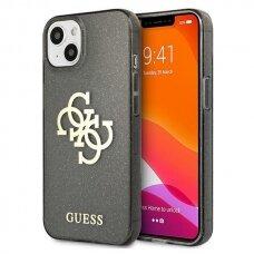 "Originalus Guess Glitter 4G Big Logo dėklas iPhone 13 6,1"" Juodas"