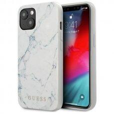 "Originalus Guess dėklas iPhone 13 6,1"" Baltas Marble"