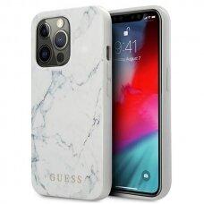 "Originalus Guess dėklas GUHCP13XPCUMAWH iPhone 13 Pro Max 6,7"" Baltas Marble"
