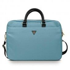 "Nešiojamo kompiuterio krepšys Guess GUCB15NTMLLB 16"" Mėlynas Nylon Triangle Logo"