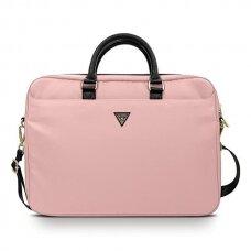 """Nešiojamo kompiuterio krepšys Guess GUCB15NTMLLP 16"""" Rožinis Nylon Triangle Logo"""