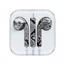 Headphones with microphone iPhone iPad iPod snake žalias (ctz013)