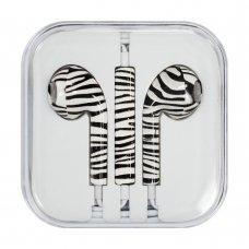 Headphones With Microphone Iphone Ipad Ipod Zebra (Style 1)