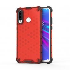 """Apsauginis Tpu Dėklas """"Honeycomb Case"""" Huawei P30 Lite Raudonas"""