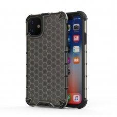 """Plastikinis Apsauginis Dėklas """"Honeycomb Armor"""" Iphone 11 Juodas"""