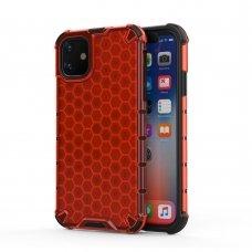 """Plastikinis Apsauginis Dėklas """"Honeycomb Armor"""" Iphone 11 Raudonas"""