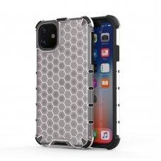 """Plastikinis Apsauginis Dėklas """"Honeycomb Armor"""" Iphone 11 Permatomas"""