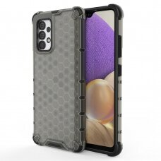 Plastikinis apsauginis dėklas Honeycomb  Samsung Galaxy A32 4G Juodas