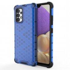 Plastikinis apsauginis dėklas Honeycomb  Samsung Galaxy A32 4G Mėlynas