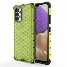 Plastikinis apsauginis dėklas Honeycomb Samsung Galaxy A32 4G Žalias