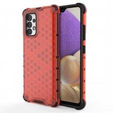 Plastikinis apsauginis dėklas Honeycomb Samsung Galaxy A32 4G Raudonas