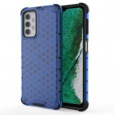 Plastikinis dėklas Honeycomb Case TPU Samsung Galaxy A32 5G Tamsiai mėlynas