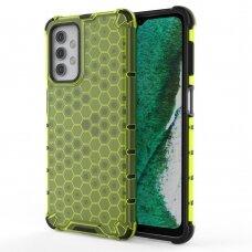Plastikinis dėklas Honeycomb Case  Samsung Galaxy A32 5G žalias