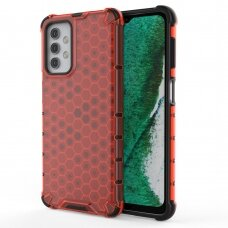 Plastikinis dėklas Honeycomb Case  Samsung Galaxy A32 5G Raudonas