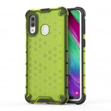 """Apsauginis Tpu Dėklas """"Honeycomb Case"""" Samsung Galaxy A40 Žalias"""