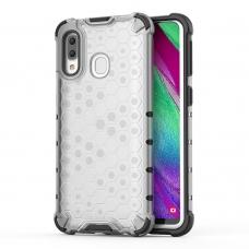 """Apsauginis Tpu Dėklas """"Honeycomb Case"""" Samsung Galaxy A40 Permatomas"""