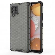Dėklas Honeycomb Case armor cover with TPU Samsung Galaxy A42 5G juodas