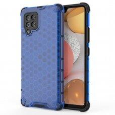 Dėklas Honeycomb Case armor cover with TPU Samsung Galaxy A42 5G mėlynas