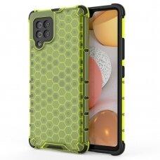 Dėklas Honeycomb Case armor cover with TPU Samsung Galaxy A42 5G žalias