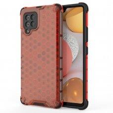 Dėklas Honeycomb Case armor cover with TPU Samsung Galaxy A42 5G raudonas