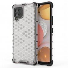 Dėklas Honeycomb Case armor cover with TPU Samsung Galaxy A42 5G permatomas