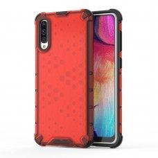 """Apsauginis Tpu Dėklas """"Honeycomb Case"""" Samsung Galaxy A50 Raudonas"""