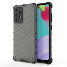 Dėklas Honeycomb Case armor cover with TPU Samsung Galaxy A52/ A52s Juodas