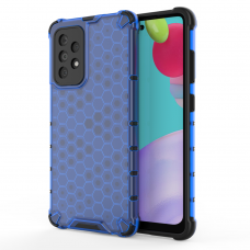 Dėklas Honeycomb Case armor cover with TPU  Samsung Galaxy A52/ A52s Mėlynas