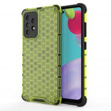 Dėklas Honeycomb Case armor cover with TPU Samsung Galaxy A52/ A52s Žalias