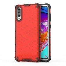 """Apsauginis Tpu Dėklas """"Honeycomb Case"""" Samsung Galaxy A70 Raudonas"""