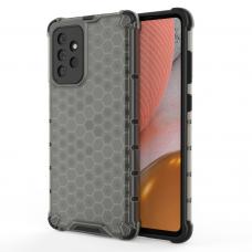 Dėklas Honeycomb Case armor cover with TPU Samsung Galaxy A72 4G Juodas