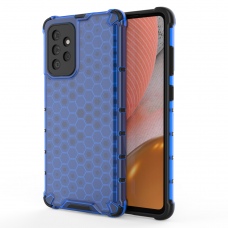 Dėklas Honeycomb Case armor cover with TPU Samsung Galaxy A72 4G Mėlynas