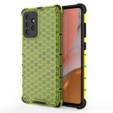 Dėklas Honeycomb Case armor cover with TPU Samsung Galaxy A72 4G Žalias