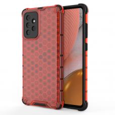 Dėklas Honeycomb Case armor cover with TPU Samsung Galaxy A72 4G Raudonas