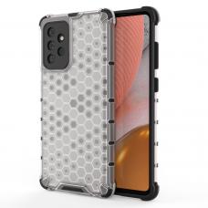 Dėklas Honeycomb Case armor cover with TPU Samsung Galaxy A72 4G Permatomas