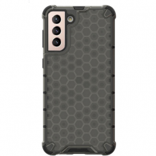 Apsauginis PC ir TPU dėklas Honeycomb Case armor Samsung Galaxy S21 5G juodas