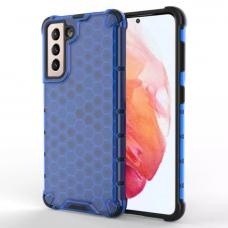 Apsauginis PC ir TPU dėklas Honeycomb Case armor Samsung Galaxy S21 5G mėlynas