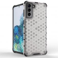 Apsauginis PC ir TPU dėklas Honeycomb Case armor Samsung Galaxy S21 5G skaidrus