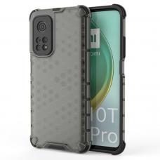Plastikinis dėklas Honeycomb Case Armor skirta Xiaomi Mi 10T Pro / Mi 10T juodas