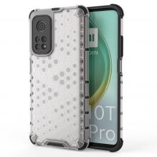 Plastikinis dėklas Honeycomb Case Armor skirta Xiaomi Mi 10T Pro / Mi 10T skaidrus