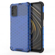 Dėklas Honeycomb Case  TPU Xiaomi Poco M3 / Xiaomi Redmi 9T mėlynas
