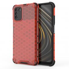 Dėklas Honeycomb  TPU Xiaomi Poco M3 / Xiaomi Redmi 9T Raudonas