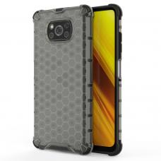 Plastikinis dėklas Honeycomb Xiaomi Poco X3 Nfc Juodas