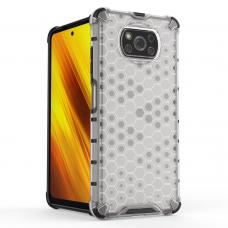 Plastikinis dėklas Honeycomb Xiaomi Poco X3 Nfc Permatomas