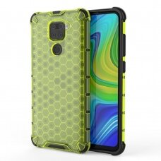 Apsauginis TPU dėklas 'Honeycomb Case' Xiaomi Redmi 10X 4G / Xiaomi Redmi Note 9 žalias