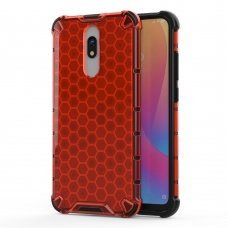 "Plastikinis apsauginis dėklas ""Honeycomb armor"" Xiaomi redmi 8A / Xiaomi redmi 8 raudonas (qew24) UCS115"