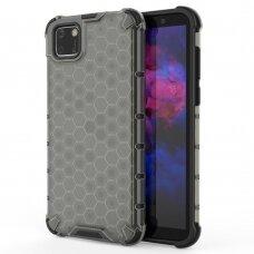 Honeycomb Case Dėklas Sutvirtintais Tpu Kraštais Huawei Y5P Juodas